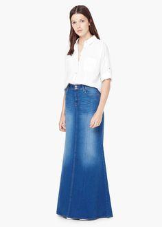 levi's long denim skirt | Long denim skirts | Pinterest | Denim ...