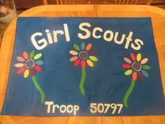 Girl or Boy Scout flag on Etsy. Great for parades or cookie booths!