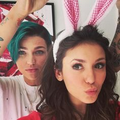 Ruby Rose & Nina Dobrev from Stars Celebrate Easter | E! Online