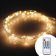 iShining Warm White Christmas Starry String Lights 120LED 20Ft Flexible Silver Wire Lights Seasonal Dcor Rope Light with Remote Controller  Power Supply for Holiday Christmas Thanksgiving Party >>> This is an Amazon Affiliate link. Check out the image by visiting the link.