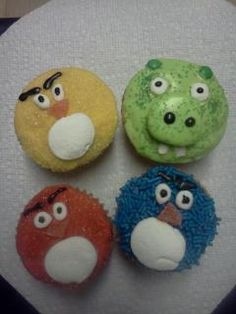 My daughter-in-law is talented!! angry bird cupcakes