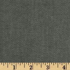 Primo Plaids Flannel Herringbone Small Grey