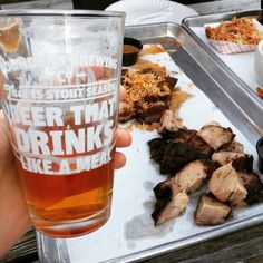 Beer: the perfect pairing for BBQ since…forever!Drinking Green Flash beer at Arrogant Swine in Brooklyn, NY.