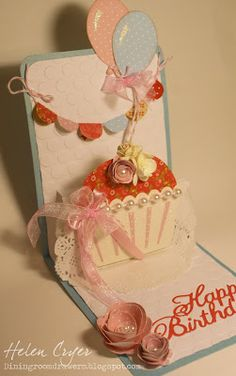 The Dining Room Drawers: Sizzix Pop 'n Cuts Cupcake Birthday Card