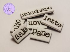 Tutorial: Parole Magnetiche in Fimo (polymer clay magnetic words)