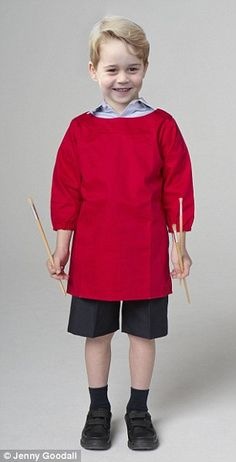What George will wear on his first day at school  #dailymail