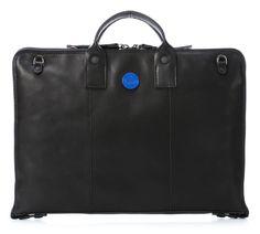 Help Briefcase Leather black 42 cm