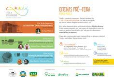 divulgação das oficinas que antecedem a Feira da Sustentabilidade e Piracicaba-SP