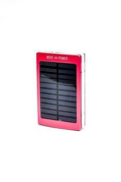 Metal Solar Power Bank Red RP 285.000