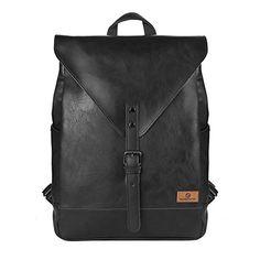 Koolertron PU Leather Laptop Backpack lightweight leather... https   www. b01bab1cb2