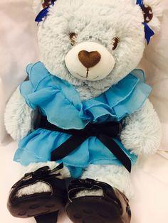Build A Bear Blue Teddy Bear Plush Stuffed 16 034 | eBay