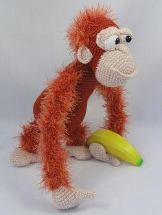 Amigurumi Crochet Pattern - Oscar the Orangutan