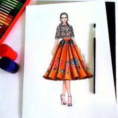 How to Draw a Fashionable Dress - Drawing On Demand Dress Design Drawing, Dress Design Sketches, Fashion Design Sketchbook, Fashion Design Drawings, Fashion Sketches, Dress Drawing, Fashion Drawing Dresses, Fashion Illustration Dresses, Fashion Art