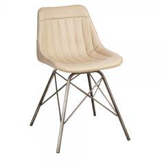 silla piel color crema | Tiendas On