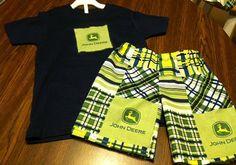 John Deere Shorts Set on Etsy, $24.00