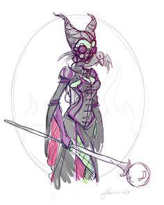 Steampunk+Maleficent+Sketch+Idea+by+NoFlutter.deviantart.com+on+@deviantART