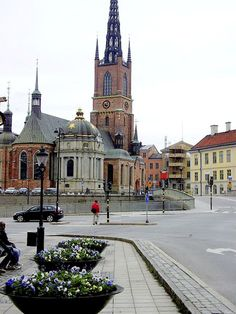 The Riddarholmen Church - burial church of the Swedish monarchs - Stockholm, Sweden