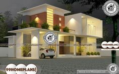 House Model Kerala Style Double Storey Homes Plans Collections House Wall Design, Duplex House Plans, Bungalow House Design, House Front Design, Small House Design, Cool House Designs, Best Modern House Design, Contemporary House Plans, Modern Contemporary