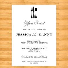 rehearsal dinner invitations - Google Search