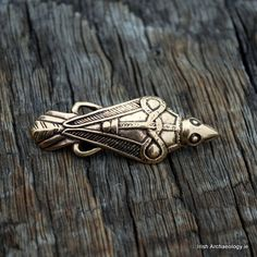 Fashioned out of bronze, this Raven Brooch is inspired by an original Viking Age find form Oland in Sweden. In Norse mythology the god Odin was associated with a pair of ravens called Huginn and Muninn.