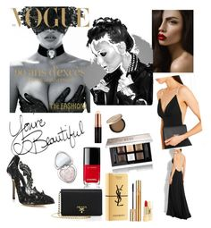 """""""Special Night"""" by alinesantos16 ❤ liked on Polyvore featuring Prada, Oscar de la Renta, GE, Chanel, Yves Saint Laurent, Too Faced Cosmetics, Givenchy and Anastasia Beverly Hills"""