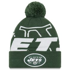 3d23e571879 New York Jets New Era Youth Logo Whiz 3 Cuffed Knit Hat - Green