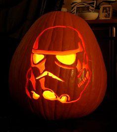 Pumpkin carving Stormtrooper