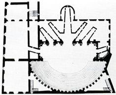 Andrea Palladio, plan of the Olympic theatre, Vicenza, 1580-85