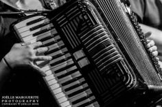 Carley Baer on accordion at Third Avenue Playhouse during Dark Songs 2013. Photo by Joëlle Marguerite Photography.