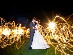 Must have a picture at night with sparklers!