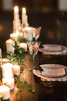 Warmest winter wedding details