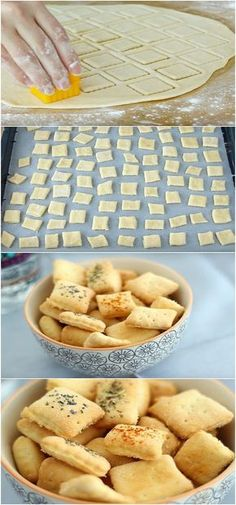 Biscoitinhos feitos com ingredientes que todos tem مرحبا ههكن مقادير بالعربيem casa Good Food, Yummy Food, Snacks, Tapas, Bakery, Food Porn, Food And Drink, Cooking Recipes, Favorite Recipes