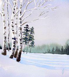 Easy Watercolor Landscape