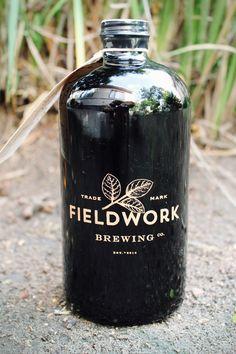Digging the mini growlers at the new Fieldworks Brewing in Berkeley #craftbeer #berkeley