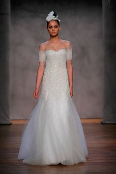 Monique Lhuillier's To-Die-For Nude Gown...Now As A White Wedding Dress!