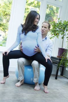 Will and Kate's baby is due tomorrow. Here's a pic of them doing exercise ball lamaze.  What a humbling, cute picture!