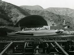 Shell for Hollywood Bowl, 1928. Hollywood, California. Lloyd Wright (Shell was used for only one season)