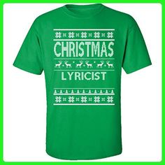 Christmas Lyricist Ugly Sweater - Adult Shirt 3xl Irish-green - Holiday and seasonal shirts (*Amazon Partner-Link)