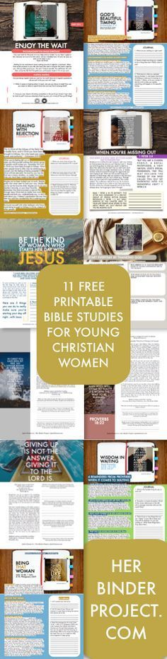 11 free printable bible studies for young women - great for small groups: