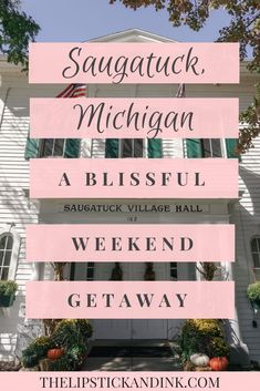 Saugatuck, Michigan: A Blissful Weekend Getaway Lipstick & Ink®Looking for a weekend getaway where you can unplug and unplug? Look no further than Saugatuck, Michigan. Saugatuck, Michigan: A Blissful Weekend Getaway Ski Vacation, Vacation Resorts, Vacation Spots, Italy Vacation, Saugatuck Michigan, Lake Michigan, Holland Michigan, Quick Weekend Getaways, Weekend Trips