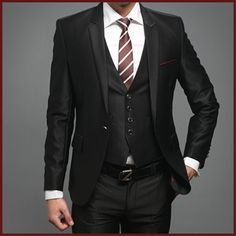 Mens Suits Prom Suits Tuxedos UK Fitted Suits for Men s Suits Black 1button | eBay
