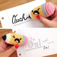 Pudgy Pencil: Download this free crochet pattern at Amigurumipatterns.net
