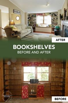 Trying to figure out how to brighten a dark room (or rooms) in your house? With over 17 ideas, you are sure to find a trick that fits your budget. Learn how to (1) brighten a room with paint, (2) brighten a room with window treatments, (3) brighten a room with furniture, (4) brighten a room with lighting, and (5) brighten a room through renovations. How to Brighten a Dark Living Room   How to Brighten a Dark Room Before and After   How to Brighten a Dark Room with Paint Dark Living Rooms, Blue Living Room Decor, Dark Furniture, Colorful Furniture, Modern Cottage Decor, Contemporary Cottage, Brighten Dark Room, Painted Built Ins, Open Plan Kitchen Dining Living