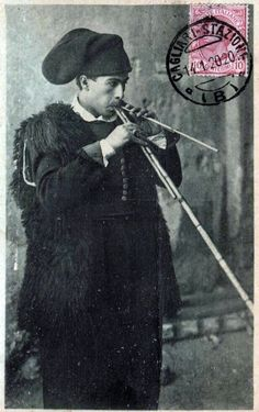 1920 - Launeddas Player. Launeddas are a typical sardinian instrument made of three reed pipes. They are 3000 years old and sound like this... - See more at: http://grand-bazaar.tumblr.com/post/40181322862/1920-italy-launeddas-player#sthash.MYbirnu2.dpuf