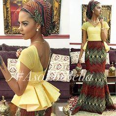 African Print Floor length Peplum Detail Dress with by Zizibespoke African Dresses For Women, African Print Dresses, African Fashion Dresses, African Attire, African Wear, African Women, African Prints, African Style, African Inspired Fashion