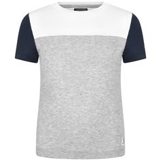 Tommy Hilfiger Boys Grey & White Contrast Top