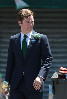 Benedict Cumberbatch on the set of 'Black Mass', filming in Boston, Massachusetts, June, 2014.