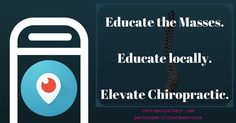 What can live streaming do for you?! Reach more people spread your voice educate on Chiropractic.
