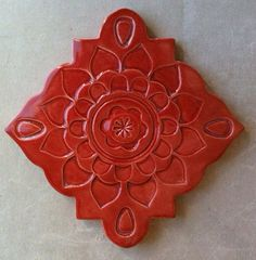 Ceramic trivet art tile wall hanging von artcrafthome auf Etsy