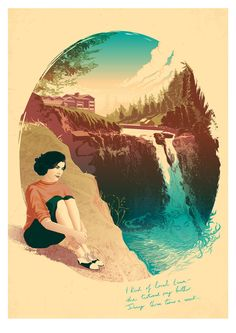 Twin Peaks: Audrey Horne / A3 Art Print by PeteLloydArt on Etsy